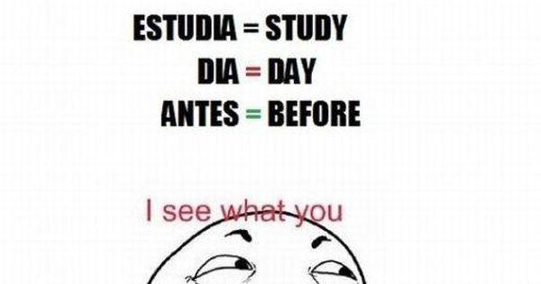 Yo necesito estudiar espanol antes de la clase tambien