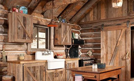 tiny house kitchens copper kitchen backsplash gorgeous rustic log cabin from off grid world ...