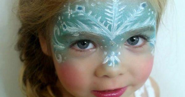 Mdchen Kinderschminken  Elsa aus Frozen mit