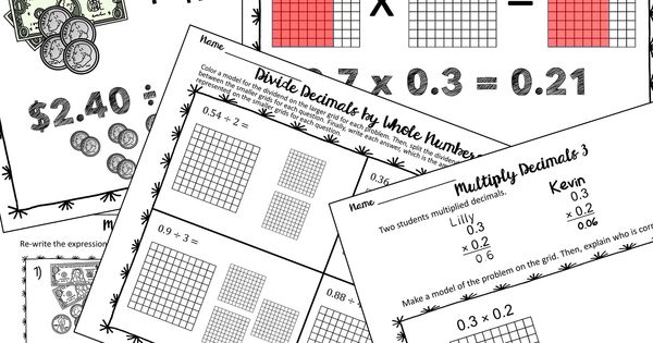 Model Operations with Decimals to help students develop a