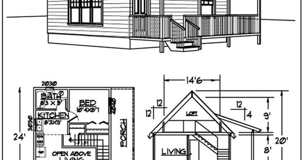 This 480 S.F. 24 by 20 Cabin with sleeping loft is compact