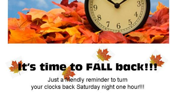 fall clip art 's time