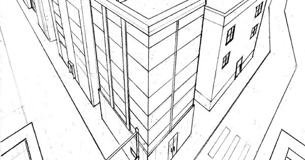 3 point perspective exercise 2 by beamer on DeviantArt