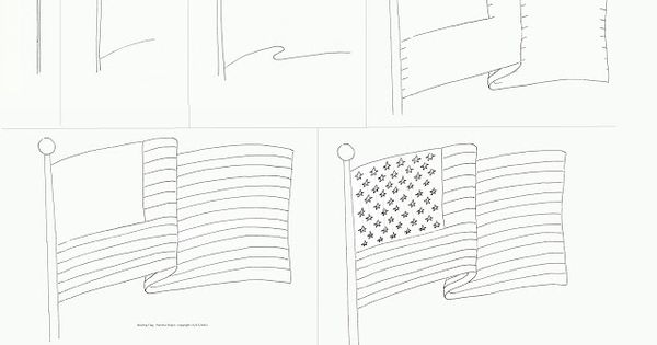 How to draw: Waving American Flag Veterans Day is November