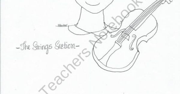 Peter & the Wolf Coloring Pages with Music Themes from