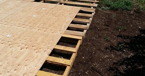 Creating a Dance Floor from Recycled Pallets  Nail gun