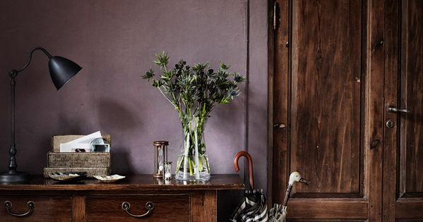 Dusty purple wall color the new neutral  Interiors Dark  Dramatic  Pinterest  Wall colors