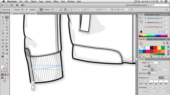 Create ribbing and a ribbed binding brush in Illustrator