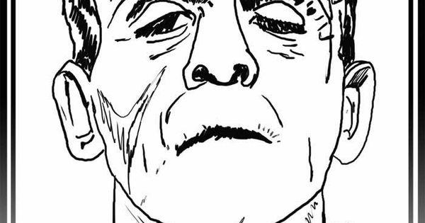How to Draw Frankenstein, Step by Step, Frankenstein