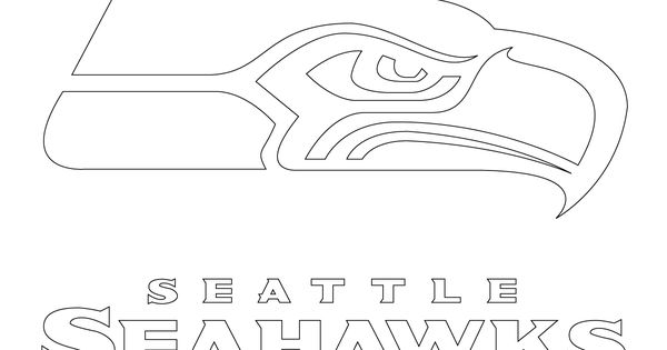 seattle seahawks logo coloring page  supercoloring