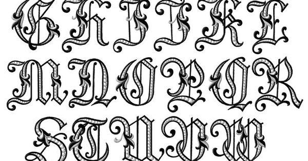 Calligraphy Alphabet : old english calligraphy alphabet. 6