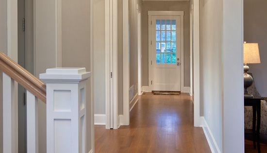 Casings and crown molding Craftsman Farmhouse  Love the crown molding Looks like the Wilcox