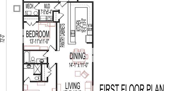 Small Low Cost Economical 2 Bedroom 2 Bath 1200 Sq Ft