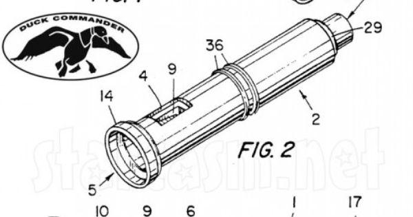 Duck Dynasty Duck Commander duck calls patent illustration