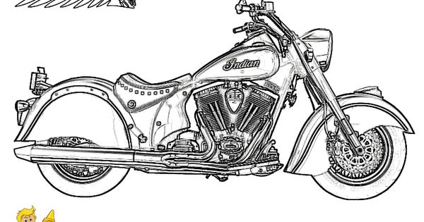 Indian Classic Motorcycle Coloring at yescoloring