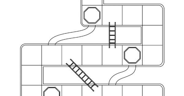 CTR shoots and ladders game- black and white printable