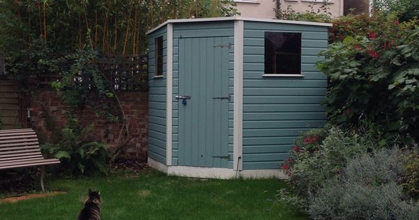 Ours Shed Cuprinol Garden Shades In Seagrass And Pale