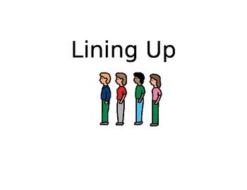 Social story about lining up for kids who have trouble