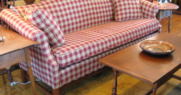 buffalo check sofa cover murphy bed system great in red & white check! | colonial style ...