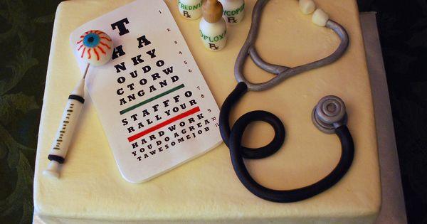 Doctor Nurse Optometrist Cake With Stethoscope