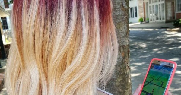 Red Roots With Blonde Hair Hair Amp Beauty Pinterest