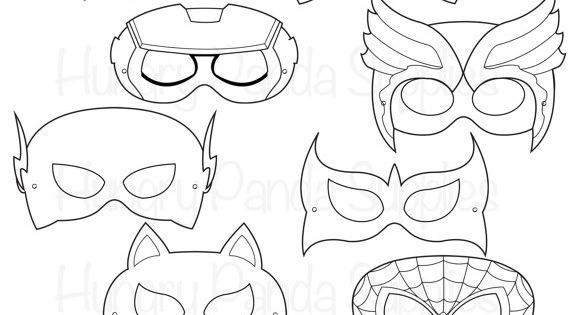 Komische held maskers, strip helden, komische maskers