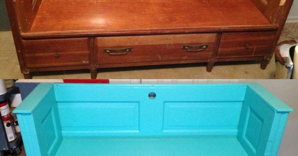 Trash to Treasure Furniture Makeovers  From trash to treasure Old dresser into a bench
