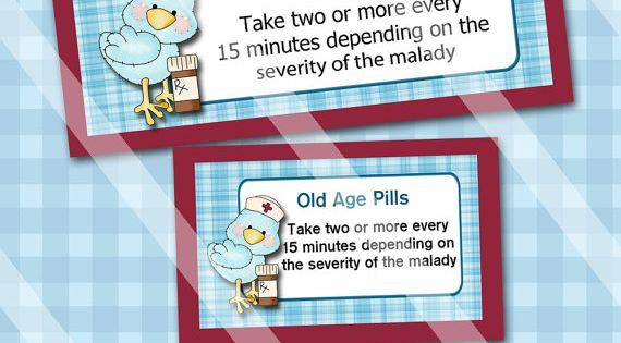 DIY Old Age Pills Digital Bag Topper BG010 Bag Toppers