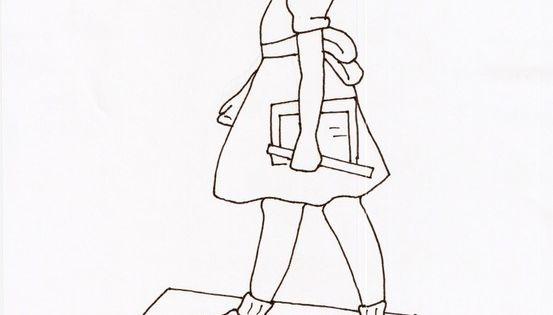 Ruby Bridges coloring page ~ I searched and searched the