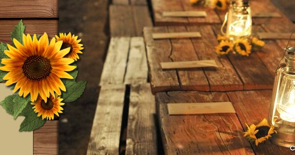Rustic Sunflowers Facebook Cover Face Book Covers