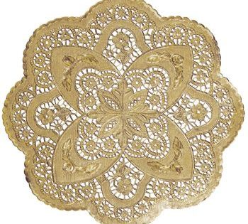 26 for 50 Foil Round Lace 12inch Doilies Gold  French