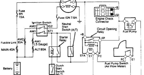 1989 toyota fuel pump wiring diagram