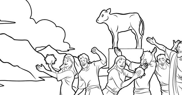 Angry At Moses Golden Calf Coloring Pages