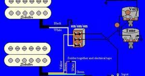 Wiring Diagrams Guitar Humbuckers  http:www