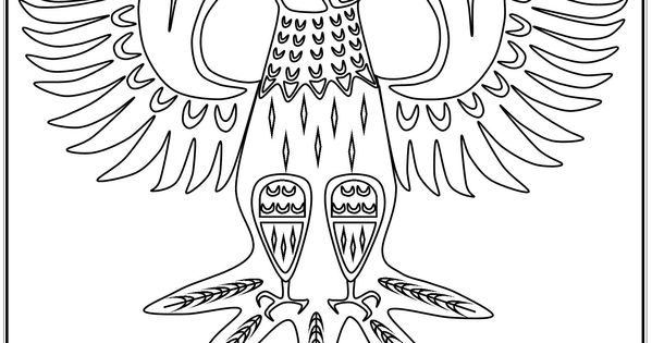 S.Mac's Pacific Northwest Native American Eagle Coloring