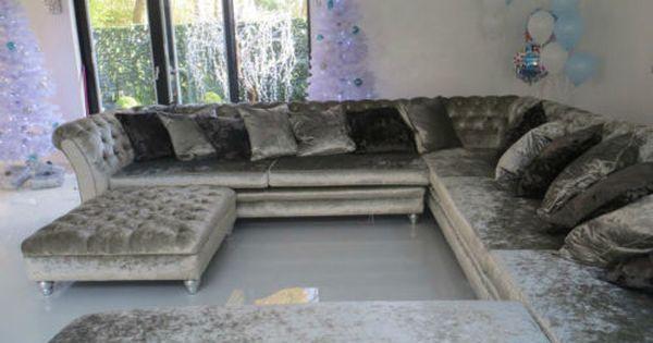 living room colour ideas with grey sofa plaid curtains for crushed velvet corner sofa, l shape u ...