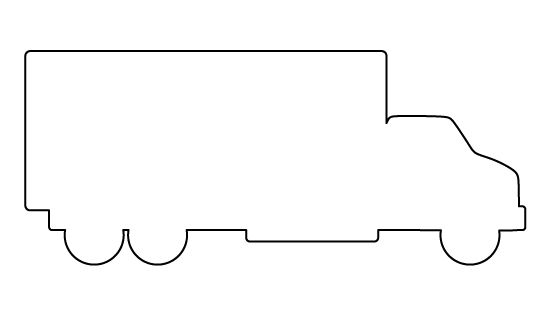 Truck pattern. Use the printable outline for crafts
