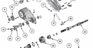 New Process NP242 Transfer Case Parts Exploded View Diagram New Process NP242 Transfer Case