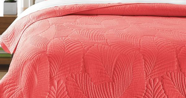 Martha Stewart Collection Atlantic Palm Coral FullQueen
