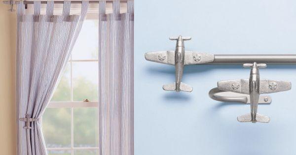 Airplanes Airplane Curtain Rods & Holdbacks Stuff To Buy