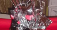 Small Centerpieces for Black, Silver, and Red Themed High ...