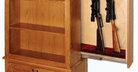 American Winchester Bookcase with Hidden Gun Safe   Gun ...