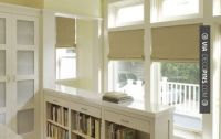 Simple knee wall with bookshelves | entryway | Pinterest ...
