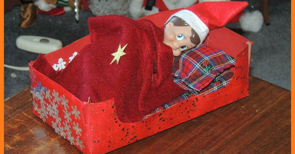 DIY Elf on the Shelf Bed  Kid Blogger Network Activities  Crafts  Pinterest  Elves and Shelves