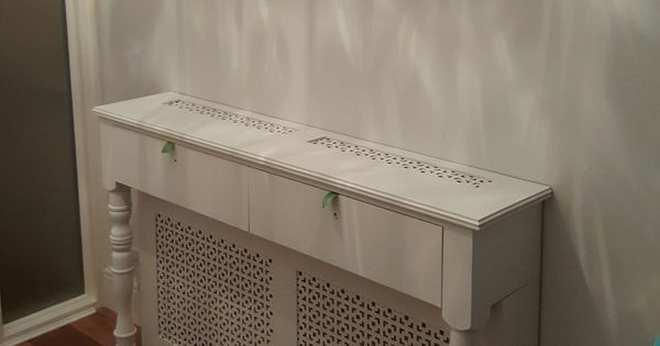 Radiator cover console table  Party Ideas  Pinterest