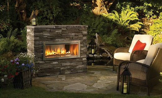 outdoor gas fireplace designs pictures   Standing