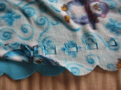 Different ways to finish a fleece blanket  Craft project