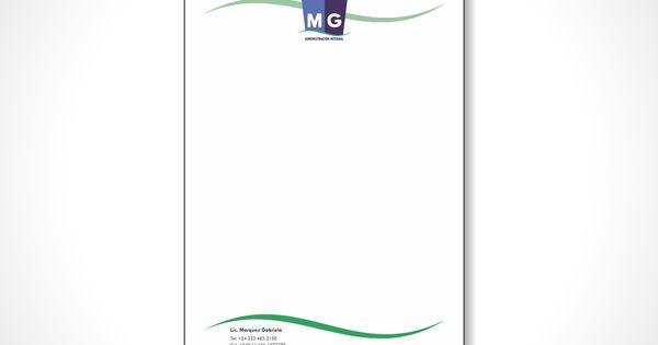 Diseño de hojas membretadas para empresa Admnistradora de