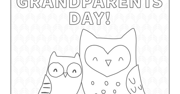 Download free Grandparent's Day coloring pages from Carter