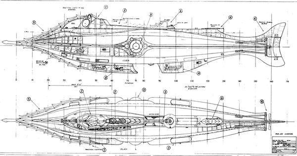Plans for the Harper Goff-designed _Nautilus_ from Disney